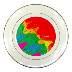 Colorful Abstract Design Porcelain Plates by Valentinaart