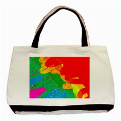 Colorful Abstract Design Basic Tote Bag (two Sides) by Valentinaart