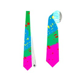 Colorful Abstract Design Neckties (one Side)  by Valentinaart