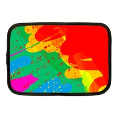 Colorful Abstract Design Netbook Case (medium)  by Valentinaart