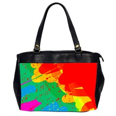 Colorful Abstract Design Office Handbags (2 Sides)  by Valentinaart
