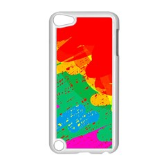 Colorful Abstract Design Apple Ipod Touch 5 Case (white) by Valentinaart