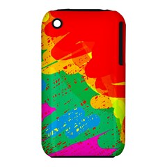 Colorful Abstract Design Apple Iphone 3g/3gs Hardshell Case (pc+silicone) by Valentinaart