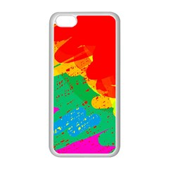 Colorful Abstract Design Apple Iphone 5c Seamless Case (white) by Valentinaart