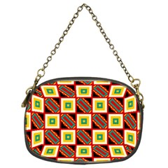 Squares And Rectangles Pattern                                                                                          	chain Purse (two Sides) by LalyLauraFLM