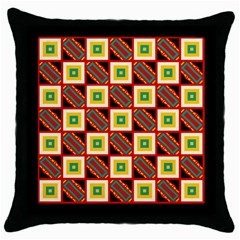Squares And Rectangles Pattern                                                                                          			throw Pillow Case (black) by LalyLauraFLM