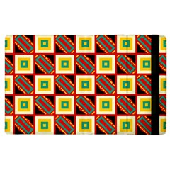 Squares And Rectangles Pattern                                                                                         			apple Ipad 2 Flip Case by LalyLauraFLM