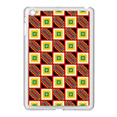 Squares And Rectangles Pattern                                                                                         			apple Ipad Mini Case (white) by LalyLauraFLM