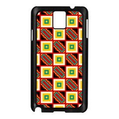 Squares And Rectangles Pattern                                                                                         			samsung Galaxy Note 3 N9005 Case (black) by LalyLauraFLM