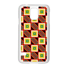 Squares And Rectangles Pattern                                                                                         			samsung Galaxy S5 Case (white) by LalyLauraFLM