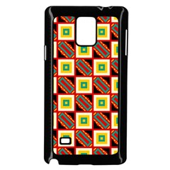 Squares And Rectangles Pattern                                                                                         			samsung Galaxy Note 4 Case (black) by LalyLauraFLM
