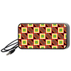 Squares And Rectangles Pattern                                                                                         Portable Speaker by LalyLauraFLM