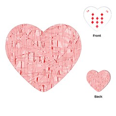 Elegant Pink Pattern Playing Cards (heart)  by Valentinaart