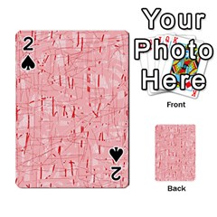 Elegant Pink Pattern Playing Cards 54 Designs  by Valentinaart