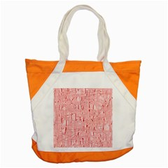Elegant Pink Pattern Accent Tote Bag by Valentinaart