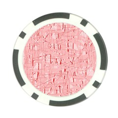 Elegant Pink Pattern Poker Chip Card Guards by Valentinaart