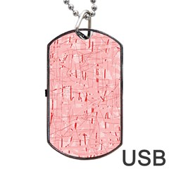 Elegant Pink Pattern Dog Tag Usb Flash (two Sides)  by Valentinaart