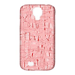 Elegant Pink Pattern Samsung Galaxy S4 Classic Hardshell Case (pc+silicone) by Valentinaart