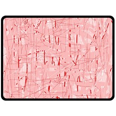Elegant Pink Pattern Double Sided Fleece Blanket (large)  by Valentinaart