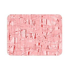 Elegant Pink Pattern Double Sided Flano Blanket (mini)  by Valentinaart