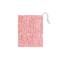 Elegant Pink Pattern Drawstring Pouches (xs)  by Valentinaart