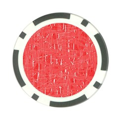 Red Pattern Poker Chip Card Guards by Valentinaart
