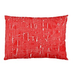 Red Pattern Pillow Case by Valentinaart