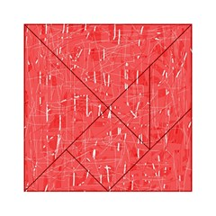 Red Pattern Acrylic Tangram Puzzle (6  X 6 ) by Valentinaart
