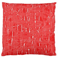 Red Pattern Large Cushion Case (one Side) by Valentinaart