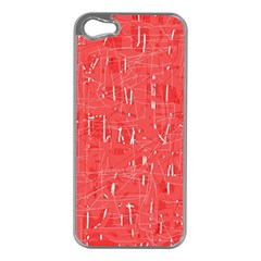 Red Pattern Apple Iphone 5 Case (silver) by Valentinaart