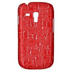 Red Pattern Samsung Galaxy S3 Mini I8190 Hardshell Case by Valentinaart
