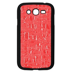 Red Pattern Samsung Galaxy Grand Duos I9082 Case (black) by Valentinaart