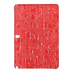 Red Pattern Samsung Galaxy Tab Pro 10 1 Hardshell Case by Valentinaart