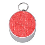 Red pattern Mini Silver Compasses Front