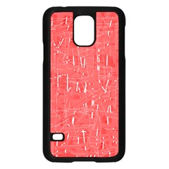 Red Pattern Samsung Galaxy S5 Case (black) by Valentinaart