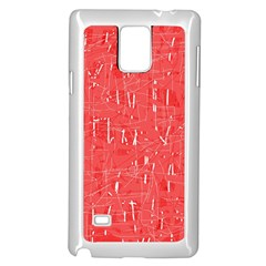 Red Pattern Samsung Galaxy Note 4 Case (white) by Valentinaart