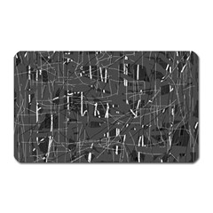 Gray Pattern Magnet (rectangular) by Valentinaart