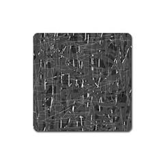 Gray Pattern Square Magnet by Valentinaart