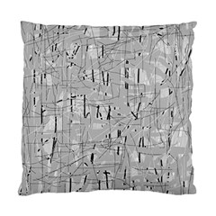 Gray Pattern Standard Cushion Case (one Side) by Valentinaart