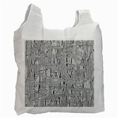 Gray Pattern Recycle Bag (one Side) by Valentinaart