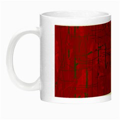 Red Pattern Night Luminous Mugs by Valentinaart