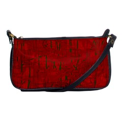 Red Pattern Shoulder Clutch Bags by Valentinaart