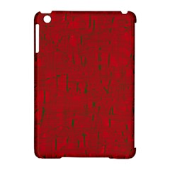 Red Pattern Apple Ipad Mini Hardshell Case (compatible With Smart Cover) by Valentinaart