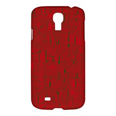 Red Pattern Samsung Galaxy S4 I9500/i9505 Hardshell Case by Valentinaart