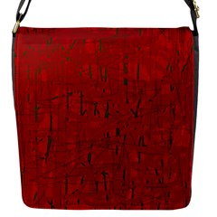 Red Pattern Flap Messenger Bag (s)