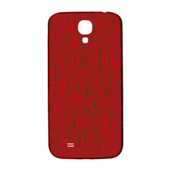 Red Pattern Samsung Galaxy S4 I9500/i9505  Hardshell Back Case by Valentinaart
