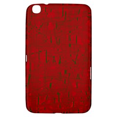Red Pattern Samsung Galaxy Tab 3 (8 ) T3100 Hardshell Case  by Valentinaart