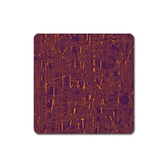 Purple Pattern Square Magnet by Valentinaart