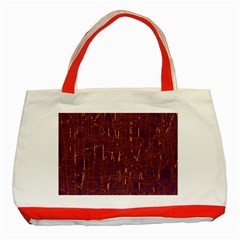 Purple Pattern Classic Tote Bag (red)