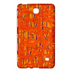 Orange Pattern Samsung Galaxy Tab 4 (8 ) Hardshell Case  by Valentinaart